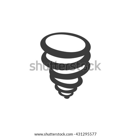Tornado icon. Tornado Vector isolated on white background. Flat vector illustration in black. EPS 10 - stock vector