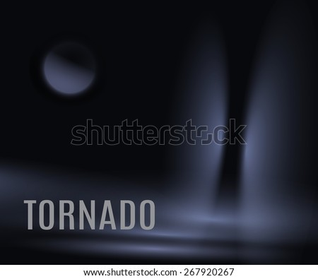 tornado in the night at the sea,eps10 - stock vector