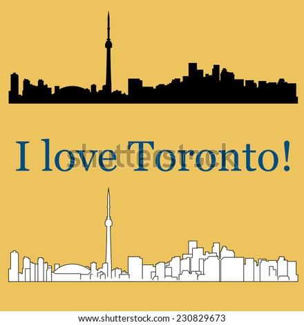 Toronto, Canada silhouette - stock vector