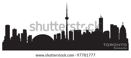 Toronto Canada skyline. Detailed vector silhouette - stock vector