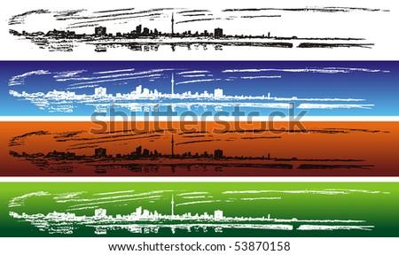 Toronto - panoramic view - stock vector