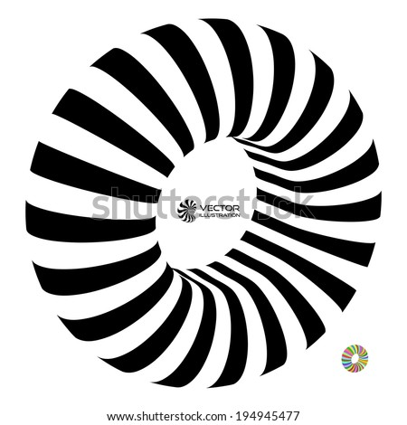 Torus. Vector 3D illustration. Abstract for internet sites, web user interfaces (ui) and applications (apps). Infinity sign. Black and white. - stock vector
