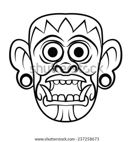 Totem Mask - stock vector