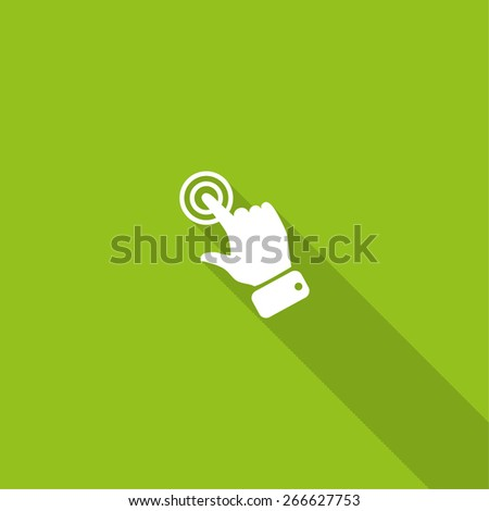 touch operation, web icon. vector design - stock vector