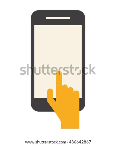 Touch screen icon - stock vector