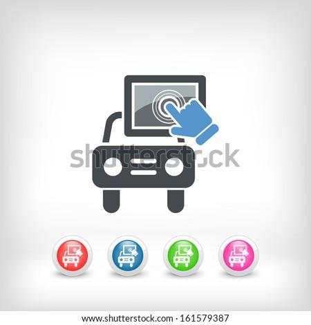 Touchscreen car device - stock vector