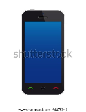Touchscreen phone - stock vector