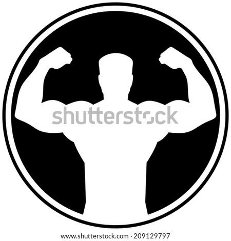 Tough Man Symbol - stock vector