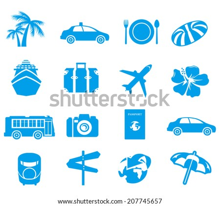 tourism icons Vector - stock vector