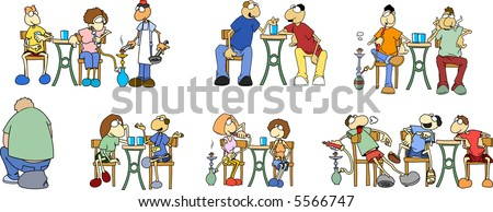 Tourists in Egypt 2-vector - stock vector