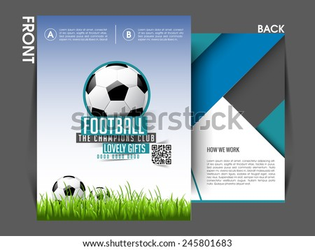 Tournament flyer template Eps10, Brochure, magazine cover. - stock vector