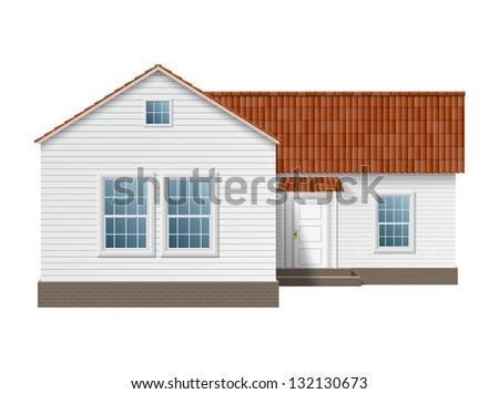 Town house. EPS10 vector. - stock vector