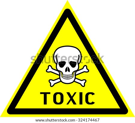 toxic, toxic substances, poison - stock vector