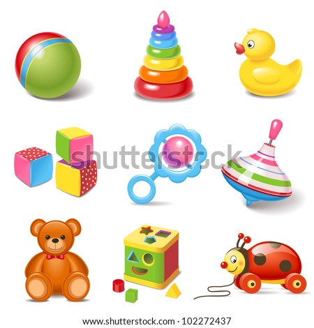 Toy icons - stock vector