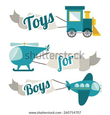 Toys design, vector illustration - stock vector