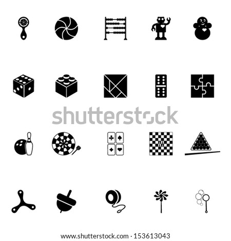 Toys icon set - stock vector