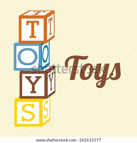 toys icons over dotted  background vector illustration  - stock vector