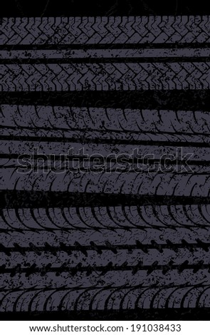 Traces of tires vector background - stock vector