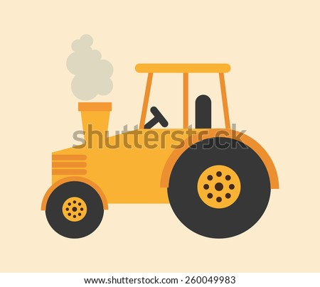tractor icon design, vector illustration eps10 graphic  - stock vector
