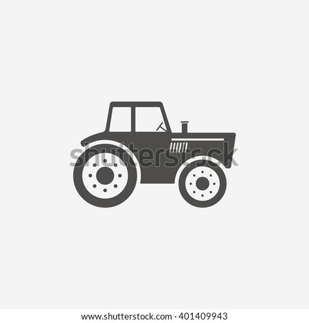 Tractor icon sign. Tractor icon flat design. Tractor icon for app. Tractor icon art. Tractor icon for logo. Tractor icon vector. Tractor icon illustration. Flat icon on white background. Vector - stock vector