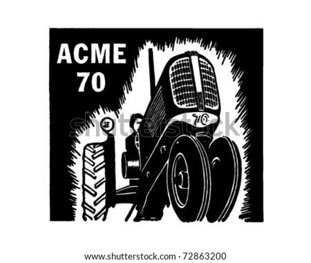 Tractor - Retro Ad Art Banner - stock vector