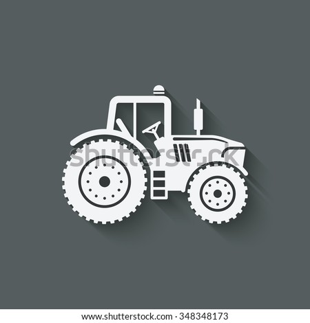 tractor silhouette icon. vector illustration - eps 10 - stock vector