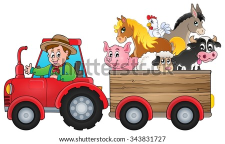 Tractor theme image 2 - eps10 vector illustration. - stock vector