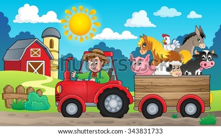 Tractor theme image 3 - eps10 vector illustration. - stock vector