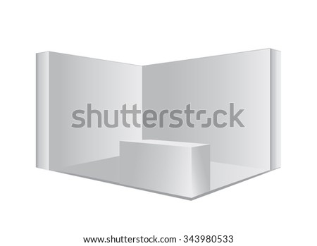 Trade exhibition stand. - stock vector