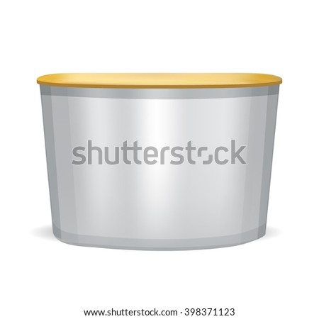 Trade exhibition stand isolated on white background - stock vector
