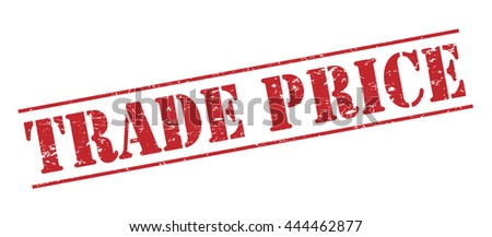 trade price vector stamp on white background - stock vector