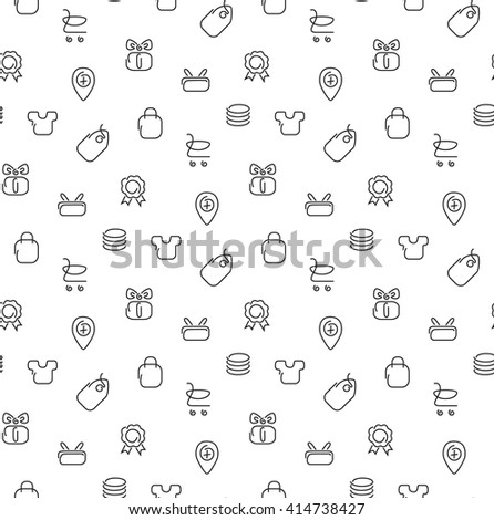 Trade sale seamless pattern. Vector illustration. EPS 10. - stock vector