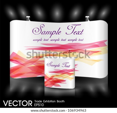 trade show booth event - stock vector