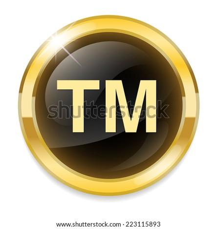 trademark button - stock vector