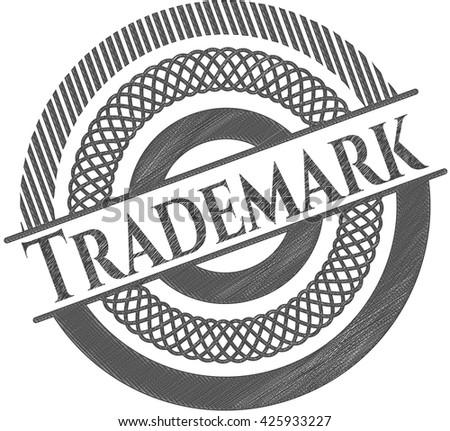 Trademark penciled - stock vector