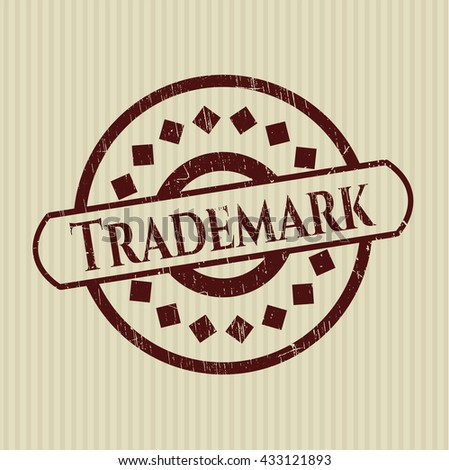 Trademark rubber grunge stamp - stock vector