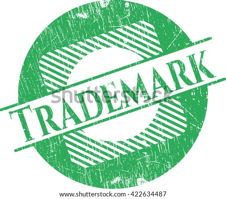 Trademark rubber stamp with grunge texture - stock vector