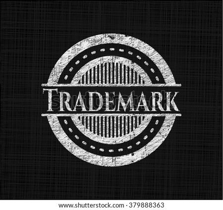 Trademark written with chalkboard texture - stock vector