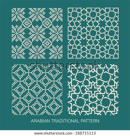 Traditional Arabian pattern. - stock vector
