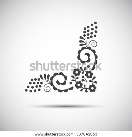 Traditional folk patterns, vector illustration of simple folk symbol - stock vector