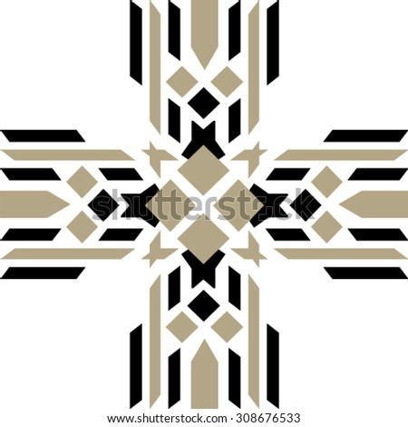 Traditional geometric pattern, motif in vector - stock vector
