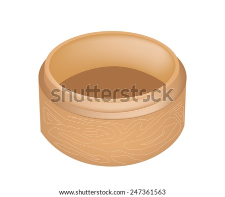 Traditional Japan, Illustration of Dim Sum Bamboo Basket or Chinese Bamboo Steamer for Steaming Chinese Food.  - stock vector