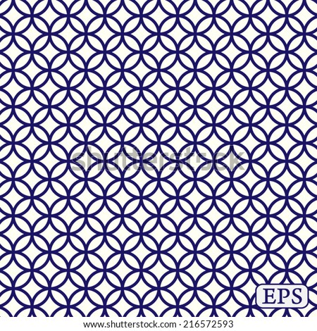 Traditional japanese pattern background - stock vector
