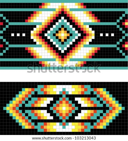 Traditional (native) American Indian pattern, vector - stock vector