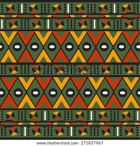 Traditional Pattern - Etno Tribal. Vector - stock vector