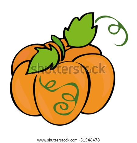Traditional Pumpkin. - stock vector