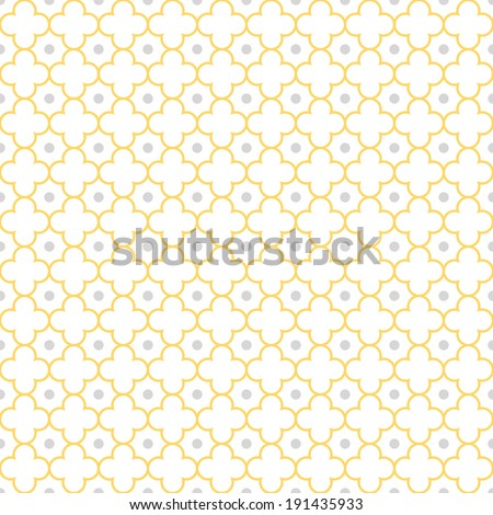 Traditional quatrefoil lattice pattern. Seamless vector background. - stock vector