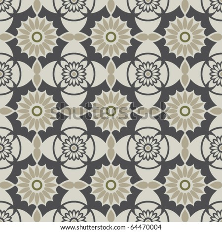 traditional repeating backdrop ornament - stock vector