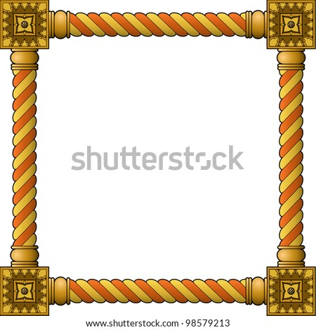 Traditional wooden frame - stock vector