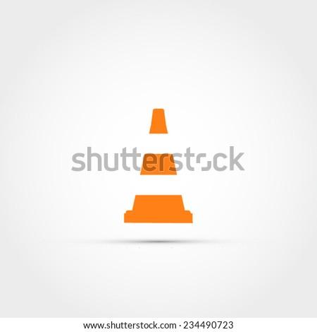 Traffic cone icon - stock vector